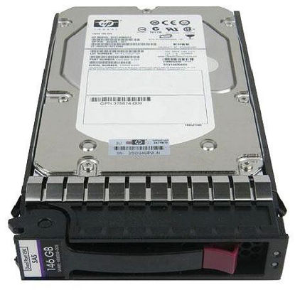 "Picture of HP 146GB 3G SAS 15K 3.5"" Dual Port Hot Plug Hard Drive 384854-B21 389344-001"
