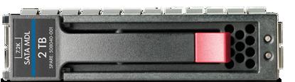 Picture of HP 2TB 3G SATA 7.2K rpm LFF (3.5-inch) Hot Plug Hard Drive 507632-B21 508040-001