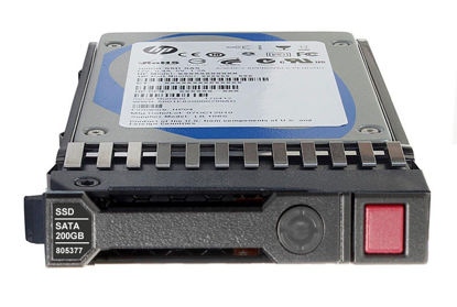 Picture of HP 200GB 6G SATA Mixed Use-2 SFF 2.5-in SC Solid State Drive 804613-B21 805377-001