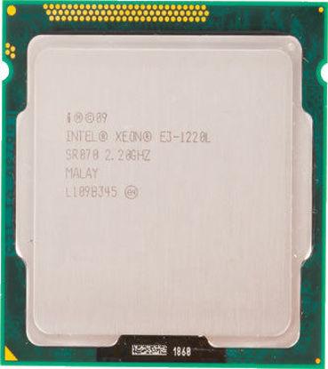 Picture of Intel Xeon E3-1220L (2.20Ghz/2-Core/3MB/20W) Processor Kit - SR070