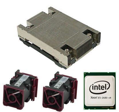 Picture of HPE DL360 Gen9 Intel Xeon E5-2680v4 (2.4GHz/14-core/35MB/120W) Processor Kit 818184-B21 835606-001