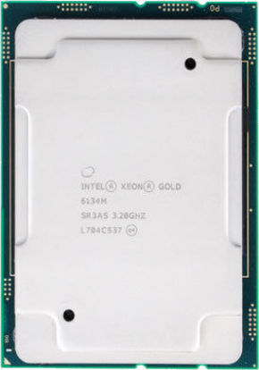 Picture of Intel Xeon-Gold 6134M (3.2GHz/8-core/130W) Processor SR3AS