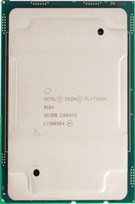 Picture of Intel Xeon-Platinum 8164 (2.0GHz/26-core/145W) Processor SR3BB