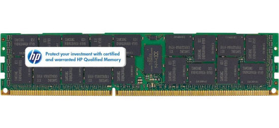 Picture of HP 8GB (1x8GB) Dual Rank x4 PC3-10600 (DDR3-1333) Registered CAS-9 Memory Kit 593913-B21 595097-001