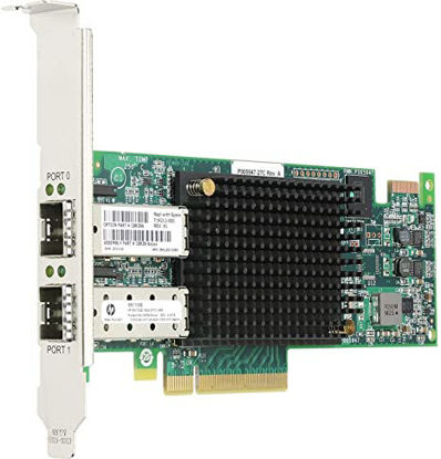 Picture of HP SN100E 16Gb 2-port PCIe Fibre Channel Host Bus Adapter  QR559A 676881-001