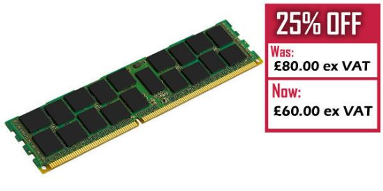 Picture of HP 32GB (1x32GB) Quad Rank x4 PC3L-8500 (DDR3-1066) Registered CAS-7 LP Memory Kit 627814-B21 632205-001 (Outlet)