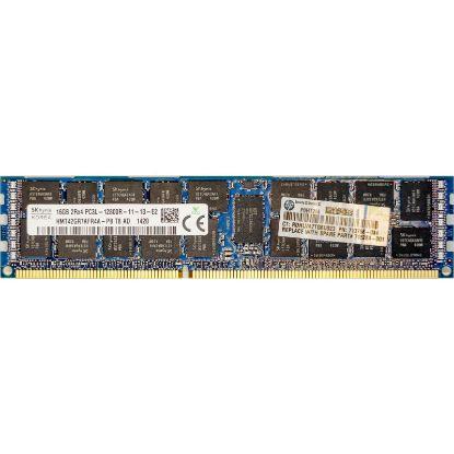 Picture of HP 16GB (1x16GB) Dual Rank x4 PC3L-12800R (DDR3-1600) Registered CAS-11 Low Voltage Memory Kit 713985-B21 713756-081