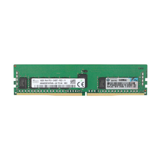 Picture of HP 128GB (8x16GB) 1RX4 DDR4-2400 CAS-17-17-17 Registered Memory Kit 8X 805349-B21 819411-001