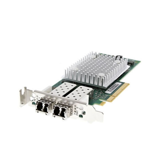 Picture of Dell Qlogic QLE2692L 16GB Dual Port SFP+ Fibre Channel Host Bus Adapter Low Profile - WVT0T
