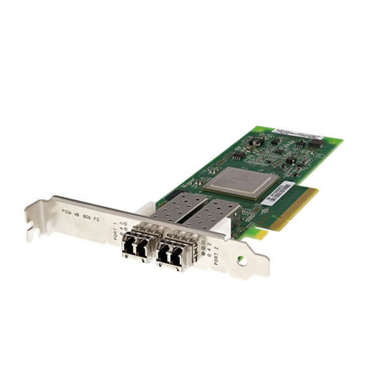 Picture of Dell Qlogic QLE2562 8GB Dual Port SFP+ Fibre Channel Host Bus Adapter High Profile - MFP5T
