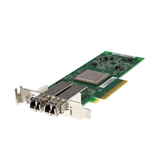 Picture of Dell Qlogic QLE2562L 8GB Dual Port SFP+ Fibre Channel Host Bus Adapter Low Profile - RW9KF