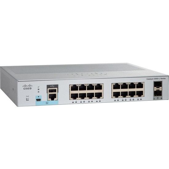 Picture of Cisco Catalyst C2960L-8TB-LL 8x Gigabit Ethernet PoE Ports + 2x SFP Switch WS-C2960L-8TS-LL