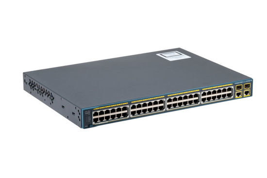 Picture of Cisco Catalyst C2960-Plus-48PST-S 48 x 10/100 Ethernet + 2 x SFP + 2 x 1000BASE-T Switch WS-C2960+48PST-S