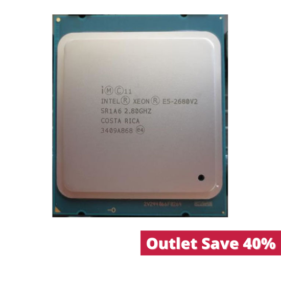 Picture of Intel Xeon E5-2680v2 (2.8GHz/10-core/25MB/115W) Processor SR1A6 (Outlet)