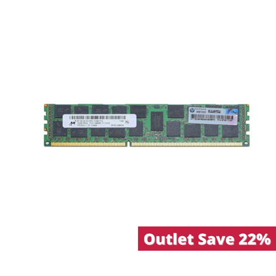 Picture of HP 16GB (1x16GB) Dual Rank x4 PC3-12800R (DDR3-1600) Registered CAS-11 Memory Kit 672631-B21 672612-081 (Outlet)