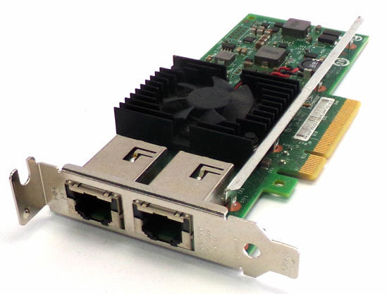 Picture of Dell Intel X540-T2 10Gb Dual Port NIC - Low Profile 3DFV8L