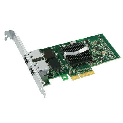 Picture of Dell Intel PRO1000PT PCI-E Dual Port Network Card Adapter (High Profile) X3959H