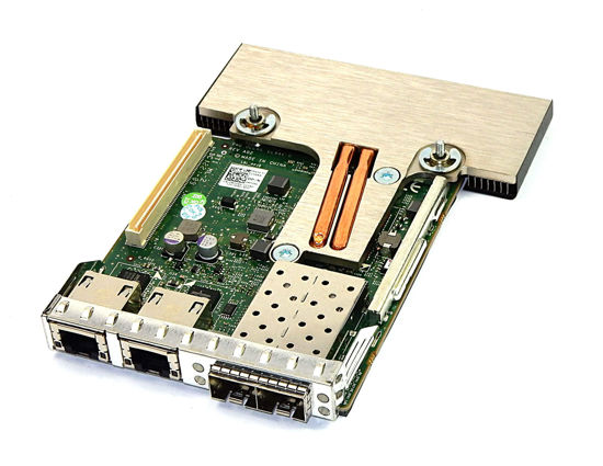 Picture of Dell Broadcom 57800s Quad Port 2x 10Gb SFP 2x 10Gb Ethernet Daughter Card MT09V