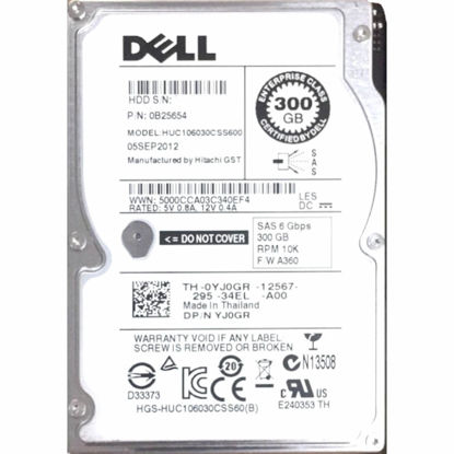 """Picture of Dell 300GB 10K 6G 2.5"""" SAS R-Series Hard Drive (No Caddy) YJ0GRC1"""