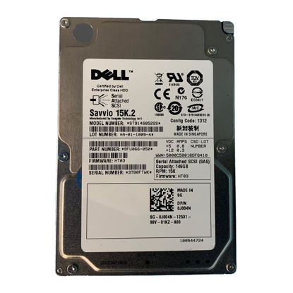 """Picture of Dell 146GB 15K 2.5"""" SAS Hard Drive J084N"""
