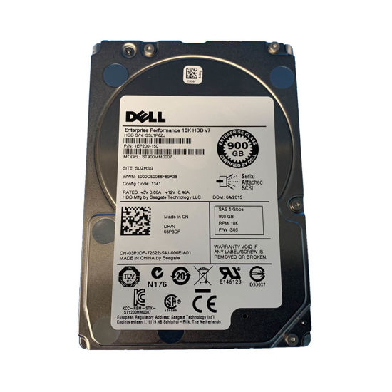 """Picture of Dell PowerEdge 900GB 6G 10K 2.5"""" SAS Hard Drive 3P3DF"""