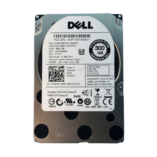 """Picture of Dell 300GB SAS 10K 2.5"""" 6GBPS Hard Drive X79H3"""