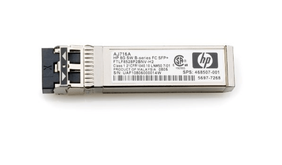 Picture of HP 8Gb Short Wave B-Series FC SFP+ 1 Pack AJ716A